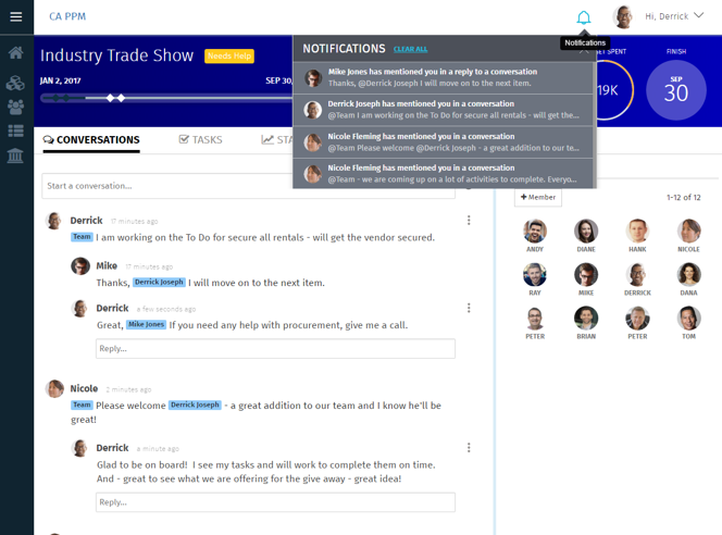 Get alerts through notification and email